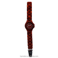 Fahsion bewell maple and sandalwood watch with calendar