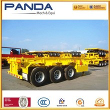 Alibaba Panda Extensively used 20ft and 40ft containers chassis trailer also can be extensible