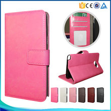 Simple style pu leather flip case for iPhone 5C ,for iPhone 5C high-end book style phone case