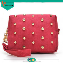 wholesale life color vintage style rivet cute girls mini canvas handbag cheap