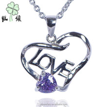 Fashion joyas de plata silver 925 jewelry Rhodium Plated Lovers Pendant