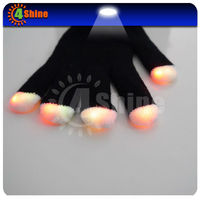 100% cotton led light up gloves for party