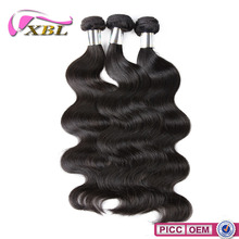 XBL Best Selling Fashion No.1Qualiy 8A Grade Chemical Free Black Wavy Hair Weave
