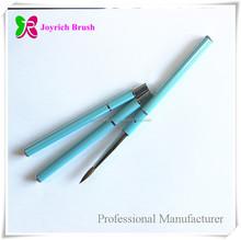 Oval Kolinsky Hair Blue Aluminium Cap and Handle Acrylic Powder Brush for Nail Art