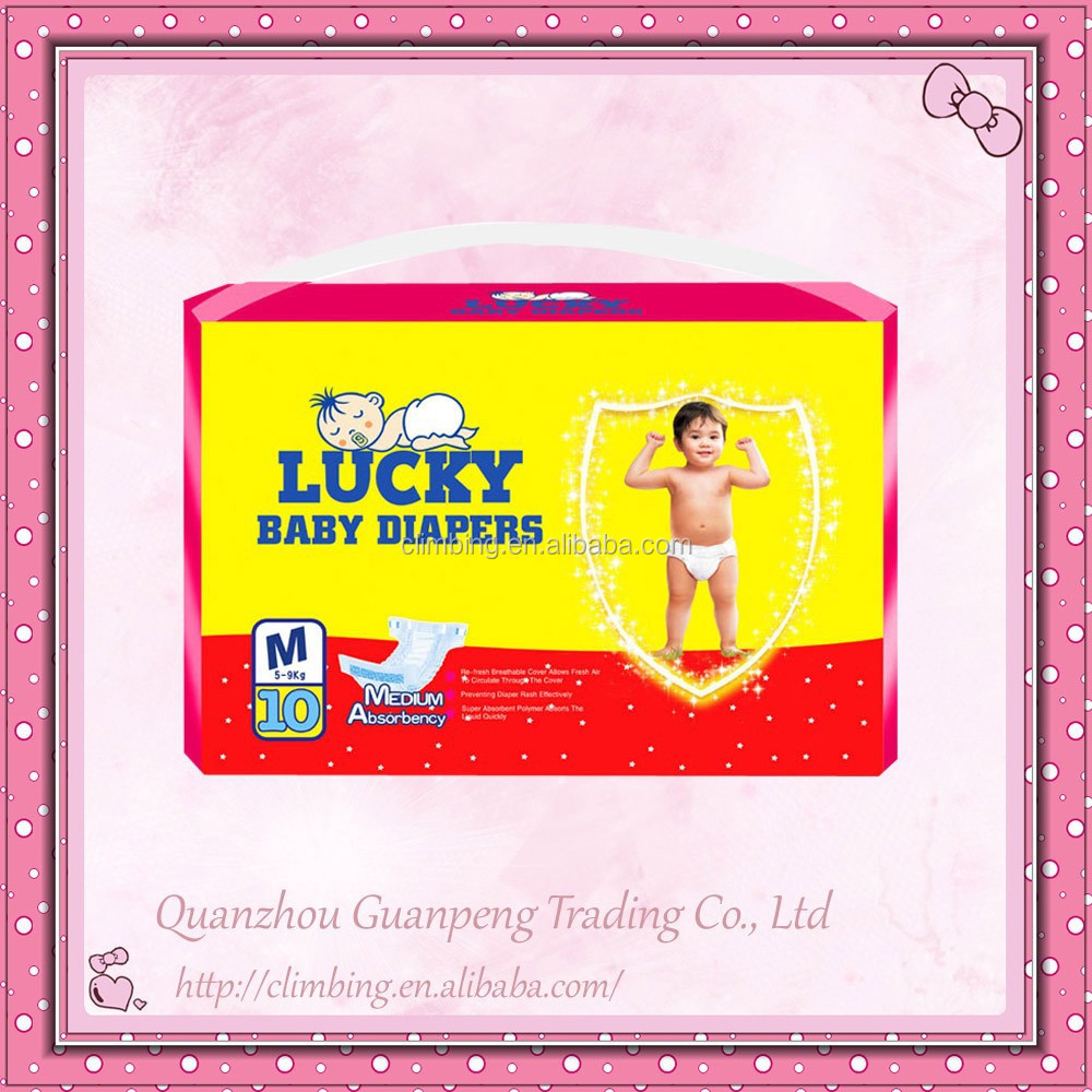 New Design Bales Disposable Baby Diapers with Non Woven Fabric