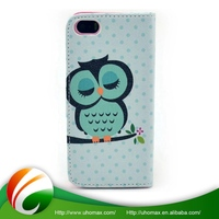 Excellent Quality Custom Printed For Iphone 5C Leather Wallet Case
