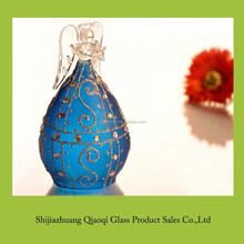 New design popular blue color glass pray angel