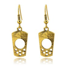 Latest Design Vintage Golden Elegent Long Eardrop,Retro Golden hollow-out eardrop
