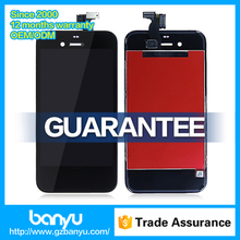 LCD display screen digitizer assembly blue glass for iphone 4