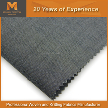 Charming Grey Polyester Rayon woven Fabric for men and women's suit