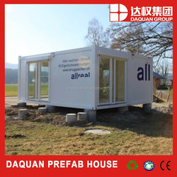 Promotion! DAQUAN 40ft container shop , 20ft flat packed living container house , sandwich panel container office