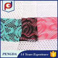 Wholesale fabric supplier 2015 new Super Stretch embroidery designs tulle fabric