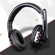 The game headset with USB stereo plug earphone with competitive price computer accessory