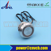 Good factory 19mm PS19A Metal Momentary Piezo Electric Switch with Ring Illumination (PS19A)