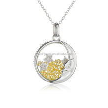 925 sterling silver I Love You More Than The Moon and The Stars pendant necklace