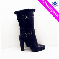 High Quality Genuine Leather Boots for Women with High Heel