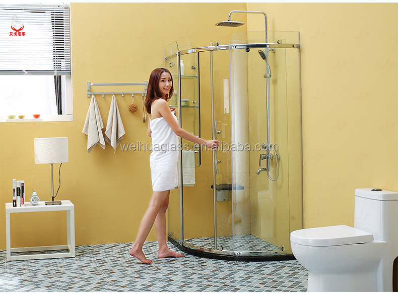 Clear Office Partition Glass Wall Glass Partition Wall Frosted - Bathroom glass partition price