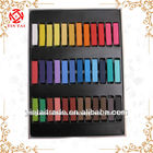 24 cores moda quente rápida não- tóxicos temporária de cabelo tintura de giz pastel soft diy/giz para cabelo