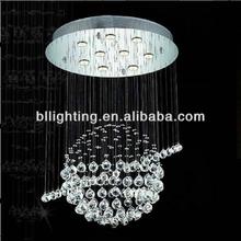 Modern hanging crystal globe lamp