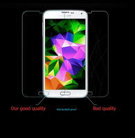 mobile phone anti-fingerprint tempered glass screen protector for Galaxy T399\GALAXY Light