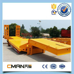 China Supplier hot selling low loader 3 axle 60ton lowprice semi trailer and truck tralier for sale