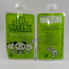 BPA free reusable baby food pouch