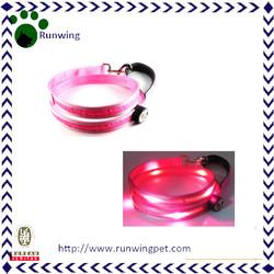 Pink Nylon Custom Led Dog Leash Wholesales