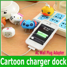 2015 New Fashion Cartoon USB Wall Charger EU US Charging Plug For Samsung iphone Power AC Adapter For Travel 5V 1A Convenient