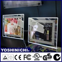 Table Top Stand Acrylic Crystal lighting LED Photo Frame