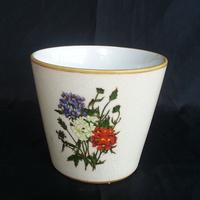 "6"" Porcelain hand Painted garlic planter sale"