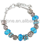 Special transparent Glass beads DIY bracelets for women wholesale nepalese roll on glass bead bracelets