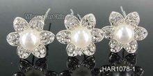 Fancy pearl with rhinestone wedding hair pins