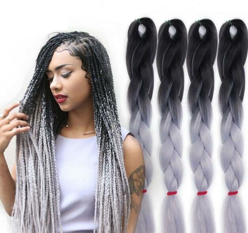 Synthetic Hair Extension Super Jumbo Braid Ombre Hair For Braiding