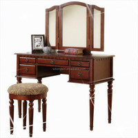 Wrought Iron Dressing Table And Stool Antique Bedroom Furniture
