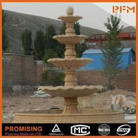 Large ornamental stone fountain dancing water fountain speaker fountain motor