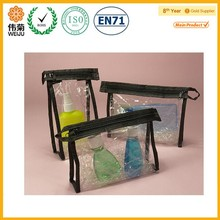 transparent clear plastic vinyl bag PVC cosmetic zipper pouch