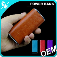 wholesale colorful leather portable power bank 4000mah mini powerbank for iphone 6