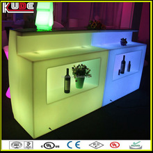 plastic color changing outdoor bar counter top on sale
