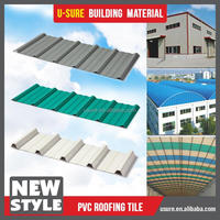 Popular building material pvc purple roof tile
