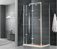 Enclosed shower room square shape with frame glass folding open door