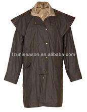 A prueba de agua 3/4 de longitud larga caballo que compite con la chaqueta ropa de equitación