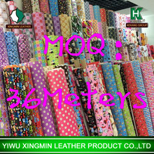 Low MOQ stock pvc leather for bags all kinds
