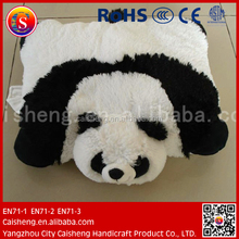 Cartoon panda plush cushion