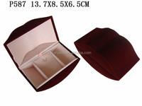 Trendy Lip Shaped Light Red Velvet Jewelry Pendant Packaging Box P587