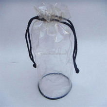 clear plastic drawstring bag