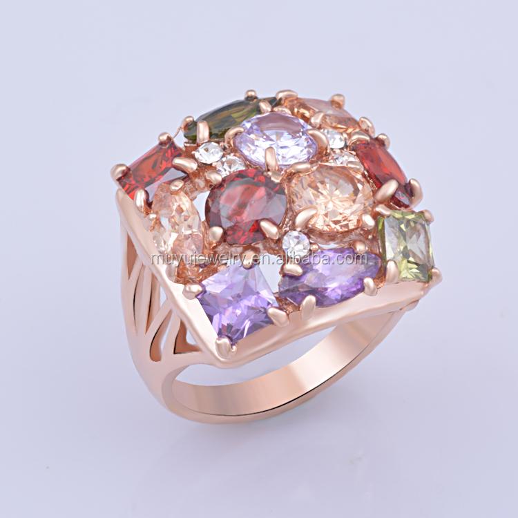 various types of modern designs gemstone ring for
