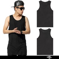Top selling products in alibaba wholesale blank plain gym tank top mens for hip hop dancing