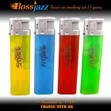 hotsale refillable cigarette lighter advertise plastic electronic lighter
