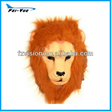Soft Eco-friendly Halloween Party mask EVA animal lion mask with wig