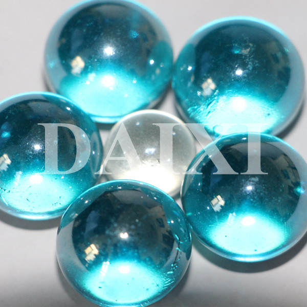 Mm blue large solid glass balls
